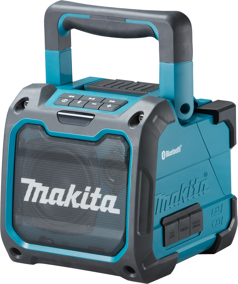 Makita DMR200 18V / 240V Job Site Bluetooth Speaker and Auxiliary Connection - Body Only