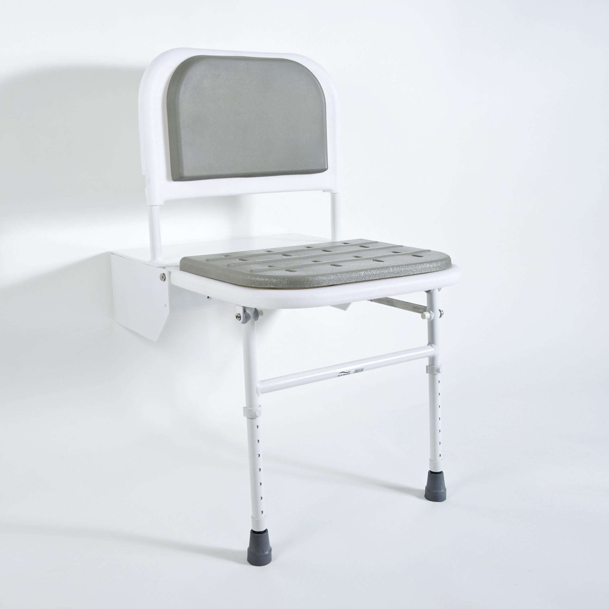 BRISTAN DOCM SHOWER SEAT WITH LEGS WHITE