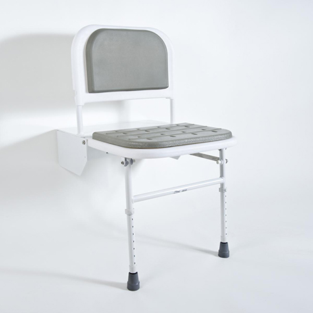 BRISTAN DOCM SHOWER SEAT WITH LEGS BLUE