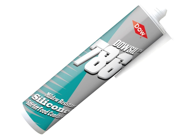 Dow Corning Dowsil 786 Mildew Resistant Silicone Sealant Food Grade 310ml - White