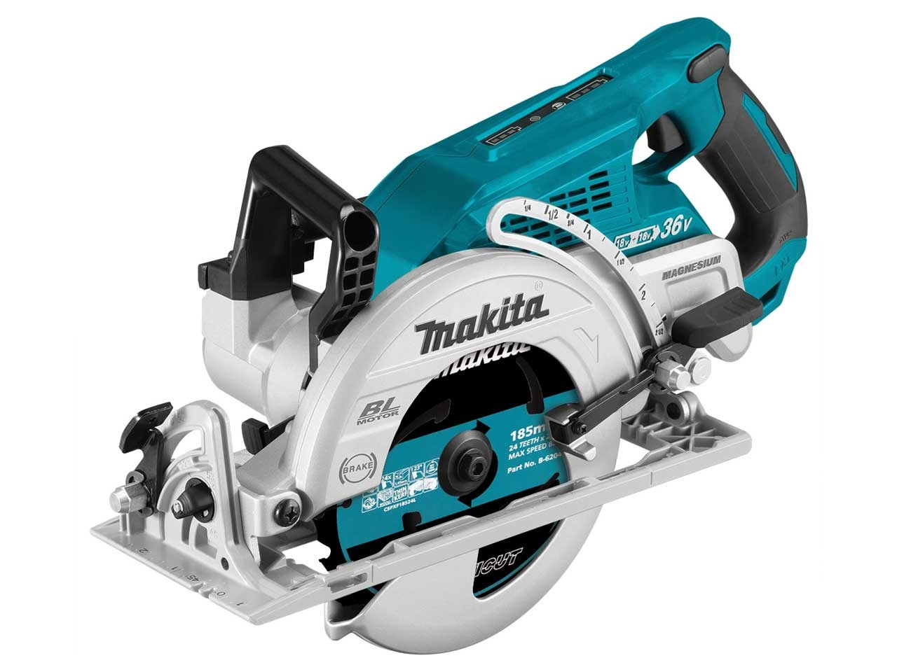 Makita DRS780Z 36V (18V Twin) 185mm Brushless Circular Saw LXT - Body Only