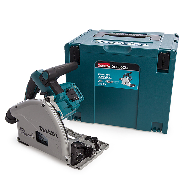 Makita DSP600ZJ 36V (18V Twin) Brushless Plunge Saw 165mm LXT - Body Only