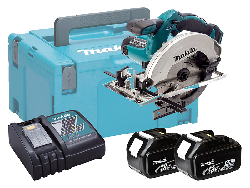 Makita DSS611 18V Brushed 165mm Circular Saw LXT - 5.0ah Pack