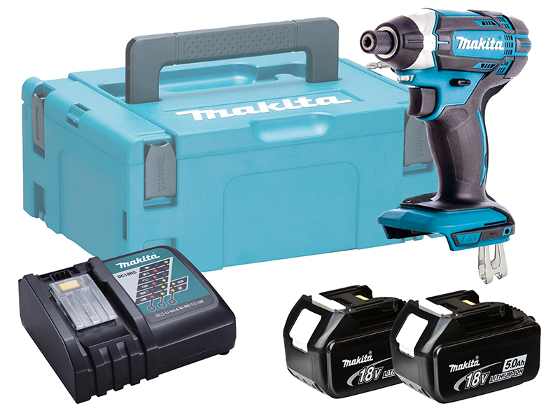 Makita DTD152 18V Brushed LXT Impact Driver High Rotation Speed - 5.0ah Pack