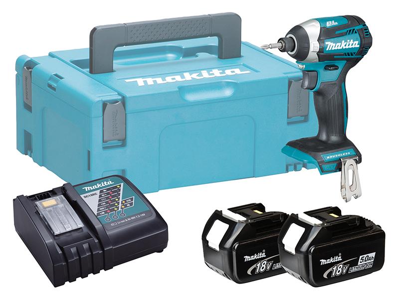 Makita DTD153 18V Brushless LXT Impact Driver Compact - 5.0Ah Pack