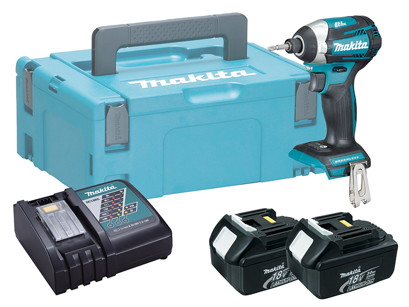 Makita DTD154 18V Brushless LXT Impact Driver (Assist Mode) - 3.0Ah Pack