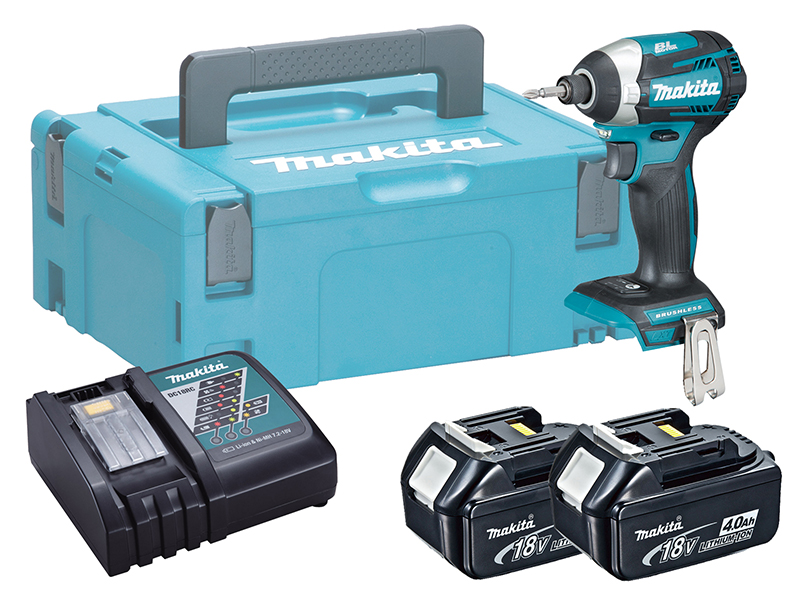 Makita DTD154 18V Brushless LXT Impact Driver (Assist Mode) - 4.0Ah Pack