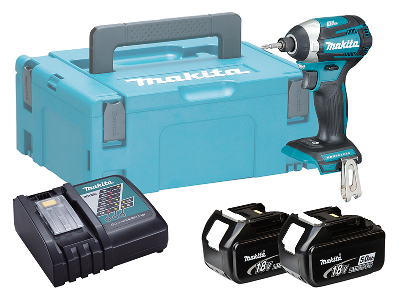 Makita DTD154 18V Brushless LXT Impact Driver (Assist Mode) - 5.0Ah Pack