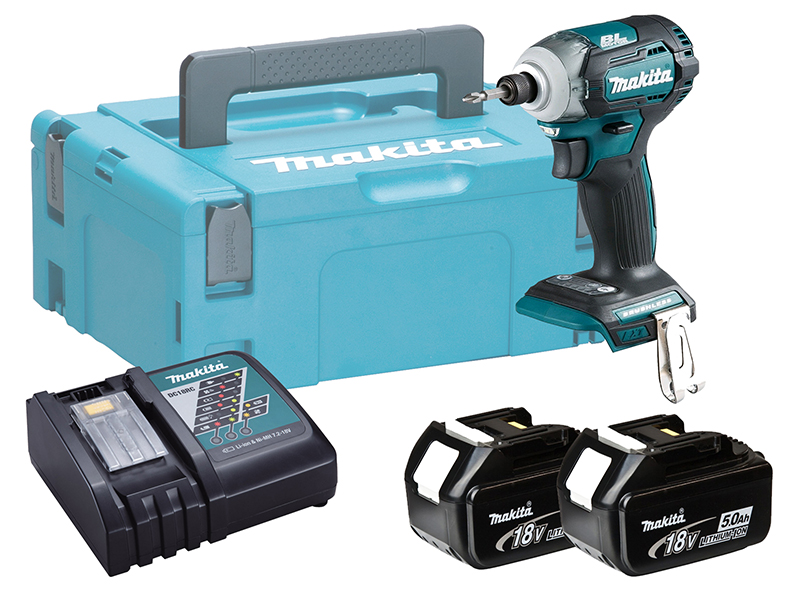 MAKITA 18V BRUSHLESS MULTI-MODE IMPACT DRIVER - DTD170 - 5.0AH PACK