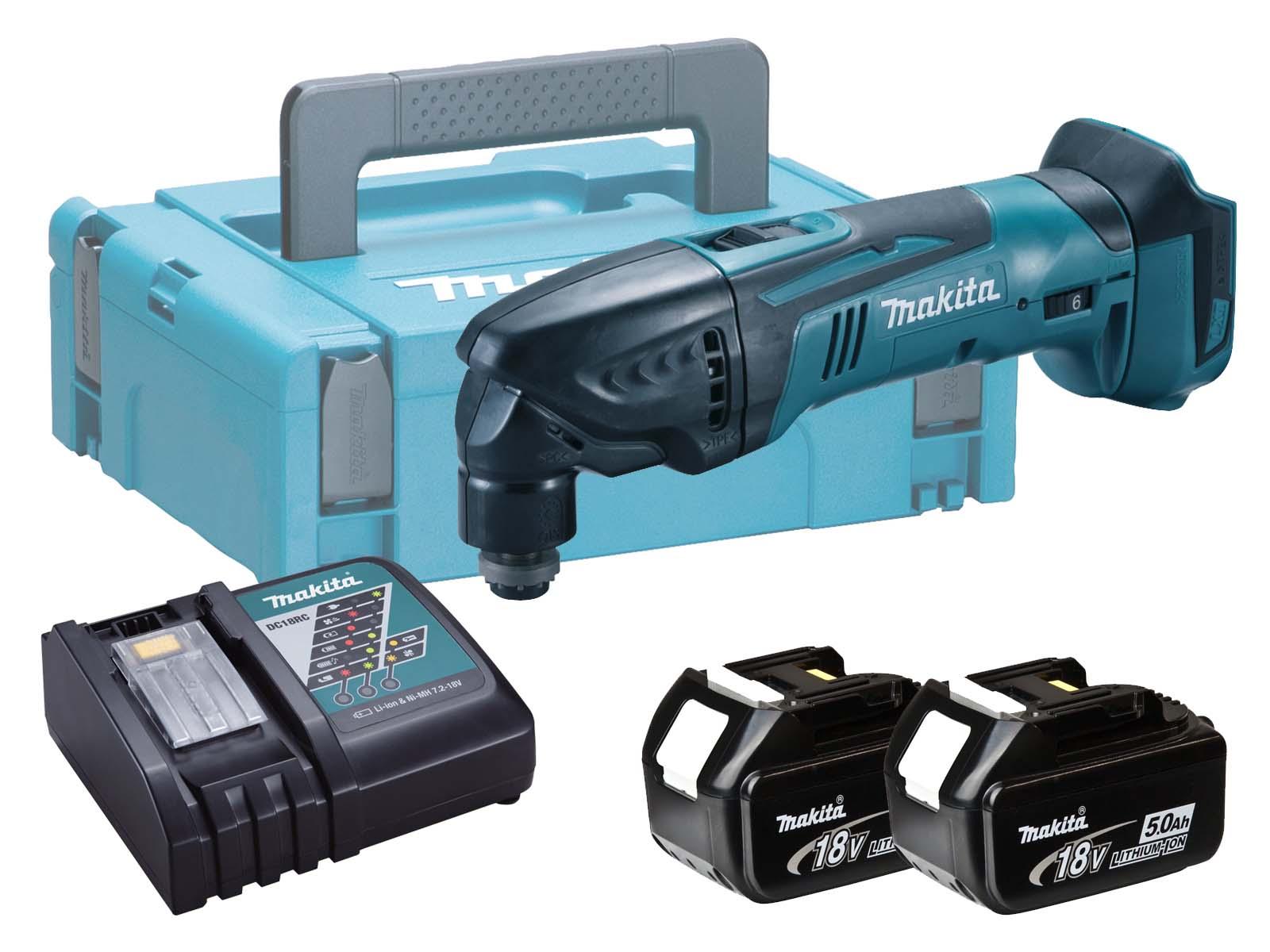 Makita 18V Brushed Multi Tool LXT - DTM50 - 5.0Ah Pack