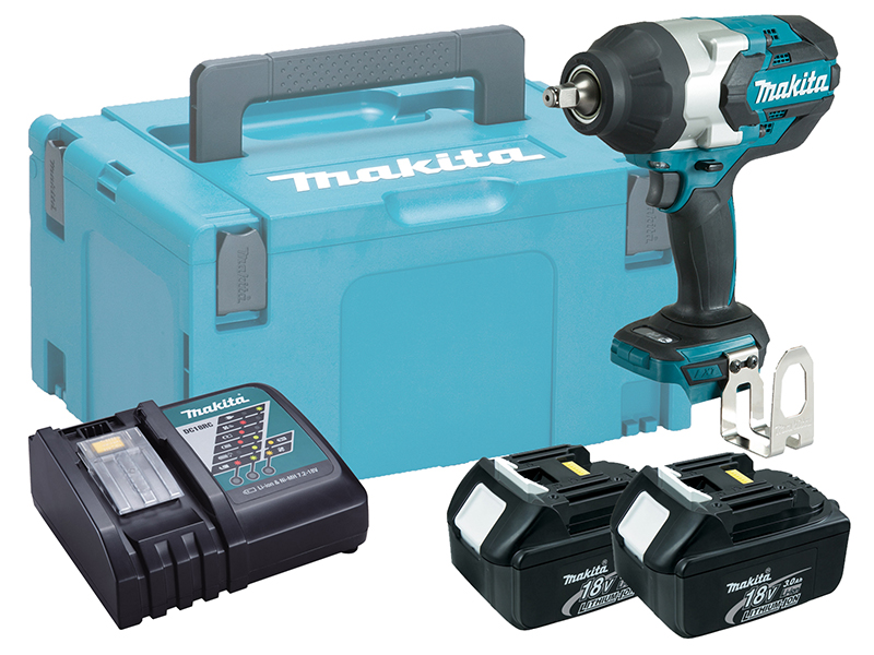 "MAKITA 18V 1/2"" BRUSHLESS HEAVY-DUTY IMPACT WRENCH - DTW1002 - 3.0AH PACK"