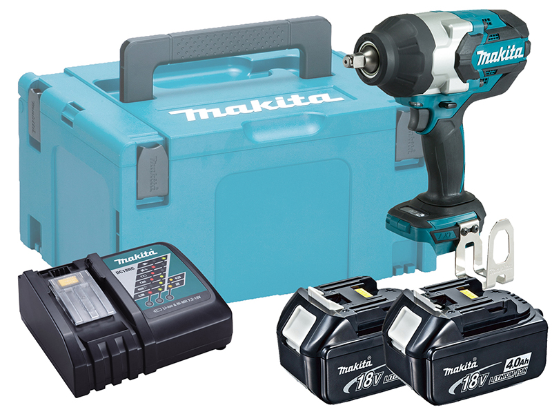 "MAKITA 18V 1/2"" BRUSHLESS HEAVY-DUTY IMPACT WRENCH - DTW1002 - 4.0AH PACK"
