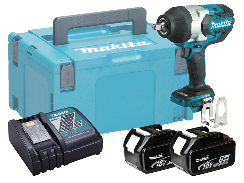 "MAKITA 18V 1/2"" BRUSHLESS HEAVY-DUTY IMPACT WRENCH - DTW1002 - 5.0AH PACK"