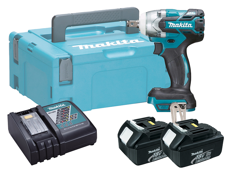 Makita 18V Brushless Impact Wrench LXT - DTW300 - 3.0Ah Pack