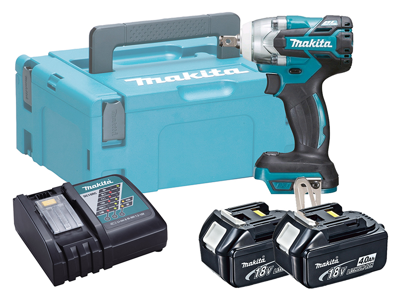 Makita 18V Brushless Impact Wrench LXT - DTW300 - 4.0Ah Pack
