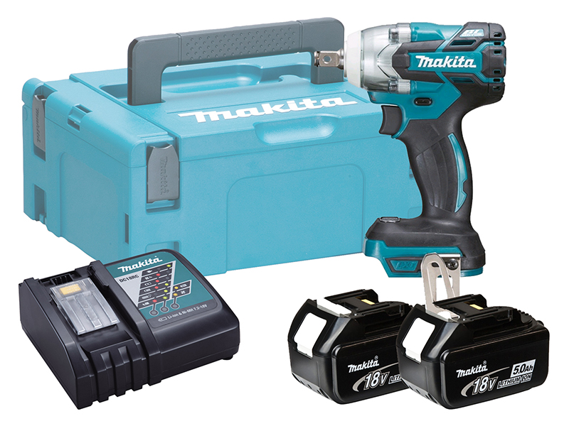 Makita 18V Brushless Impact Wrench LXT - DTW300 - 5.0Ah Pack