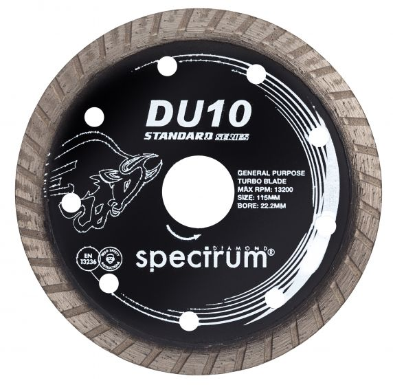Spectrum Standard Turbo Diamond Blade - General Purpose 115mm