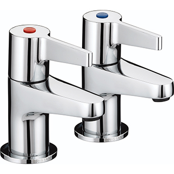 BRISTAN DESIGN UTILITY LEVER BATH TAPS CHROME PLATED