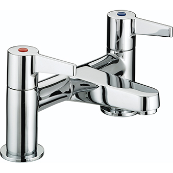 BRISTAN DESIGN UTILITY LEVER BATH FILLER CHROME PLATED