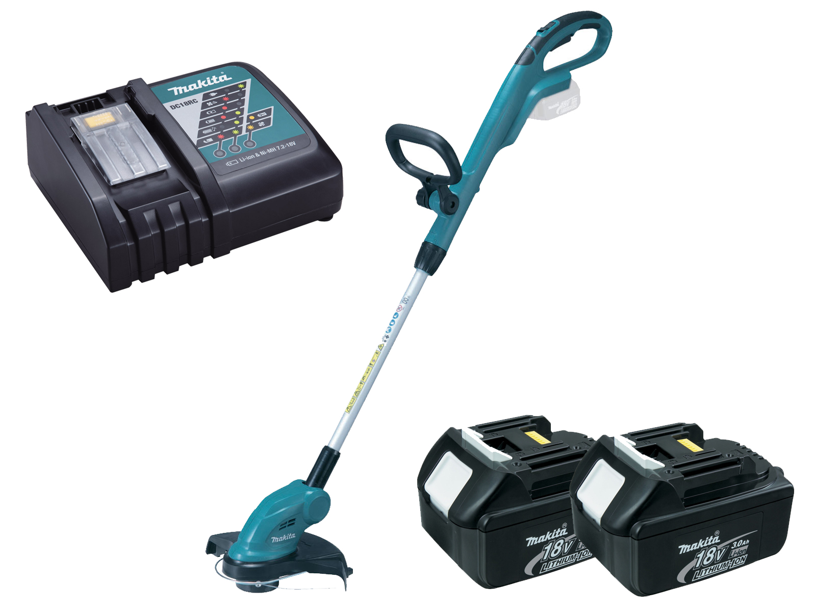 Makita 18V Brushed LXT Line Trimmer - DUR181Z - 3.0Ah Pack