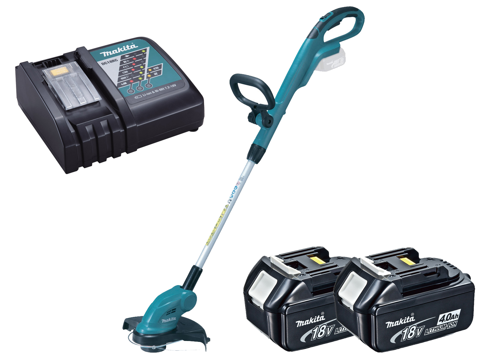 Makita 18V Brushed LXT Line Trimmer - DUR181Z - 4.0Ah Pack