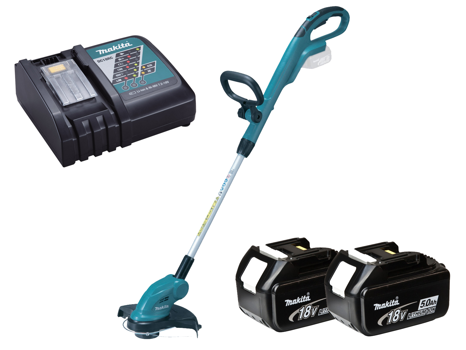 Makita 18V Brushed LXT Line Trimmer - DUR181Z - 5.0Ah Pack