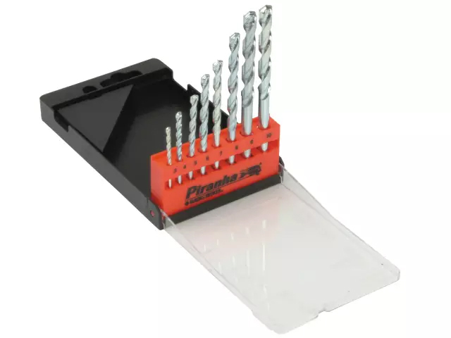 BLACK & DECKER X56040 PIRANHA MASONRY DRILL BIT SET OF 8 IN CASE 3.0-8.0MM
