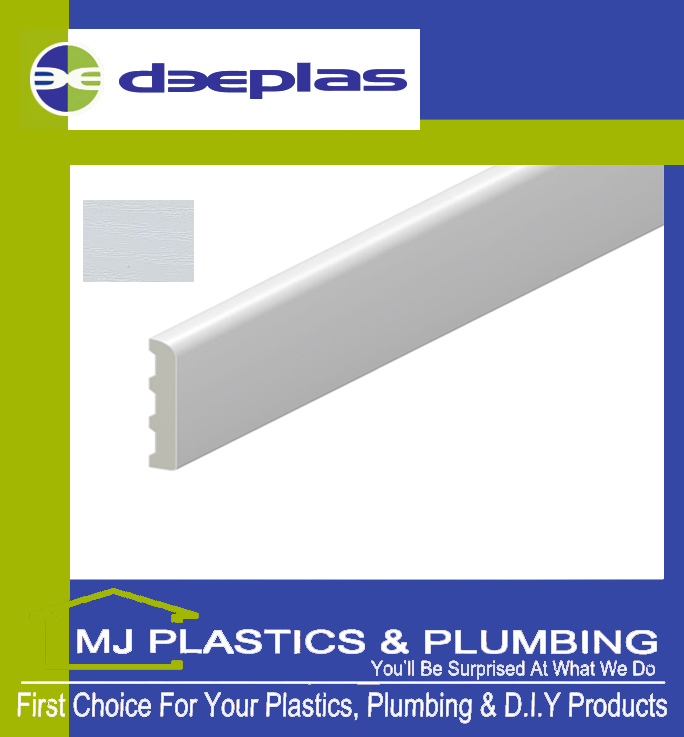 Deeplas Castellated Architrave 40mm x 6mm - White Ash 1019