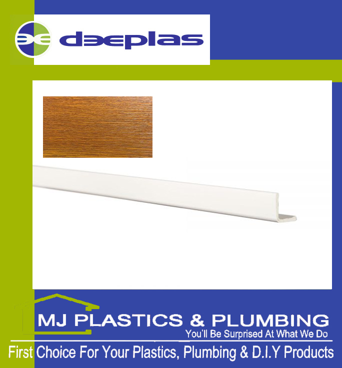 Deeplas External Foam Angle 25mm x 25mm - Golden Oak 1110