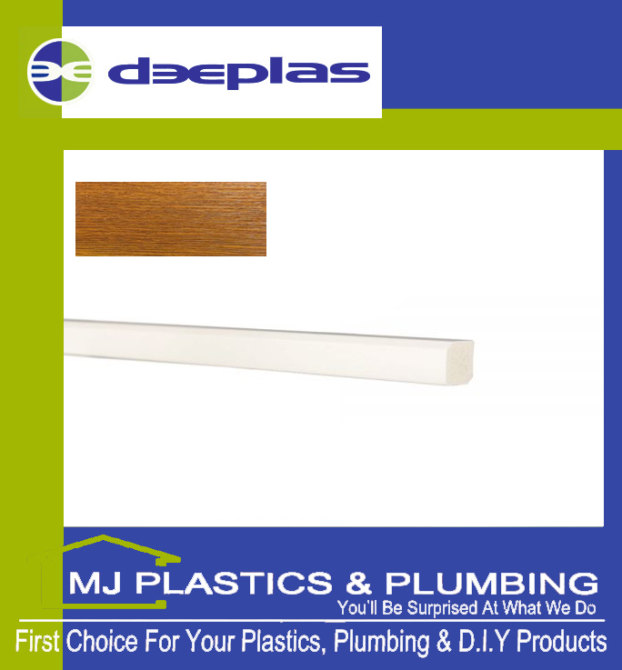 Deeplas Rectangle Trim 15mm x 12mm - Golden Oak 1110