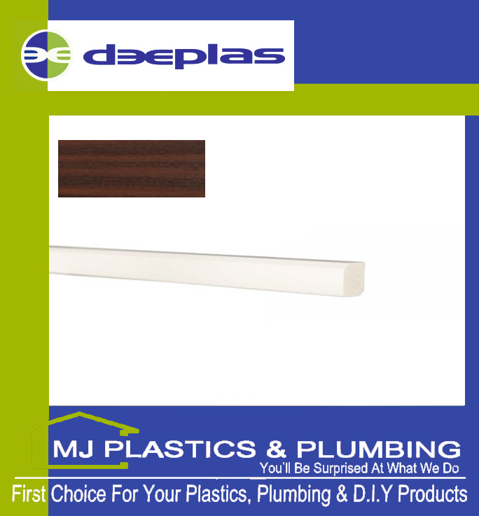Deeplas Rectangle Trim 15mm x 12mm - Rosewood 1111