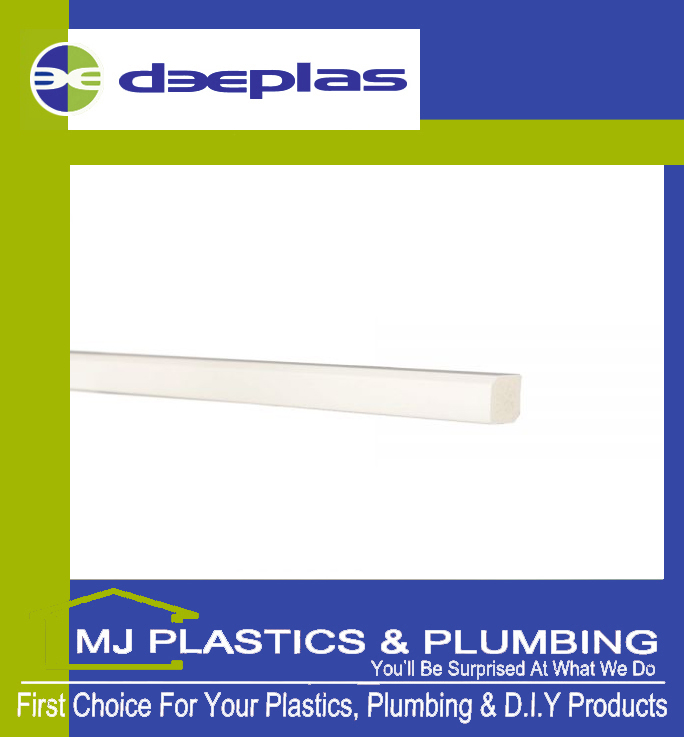 Deeplas Rectangle Trim 15mm x 12mm - Deeplas White 0003
