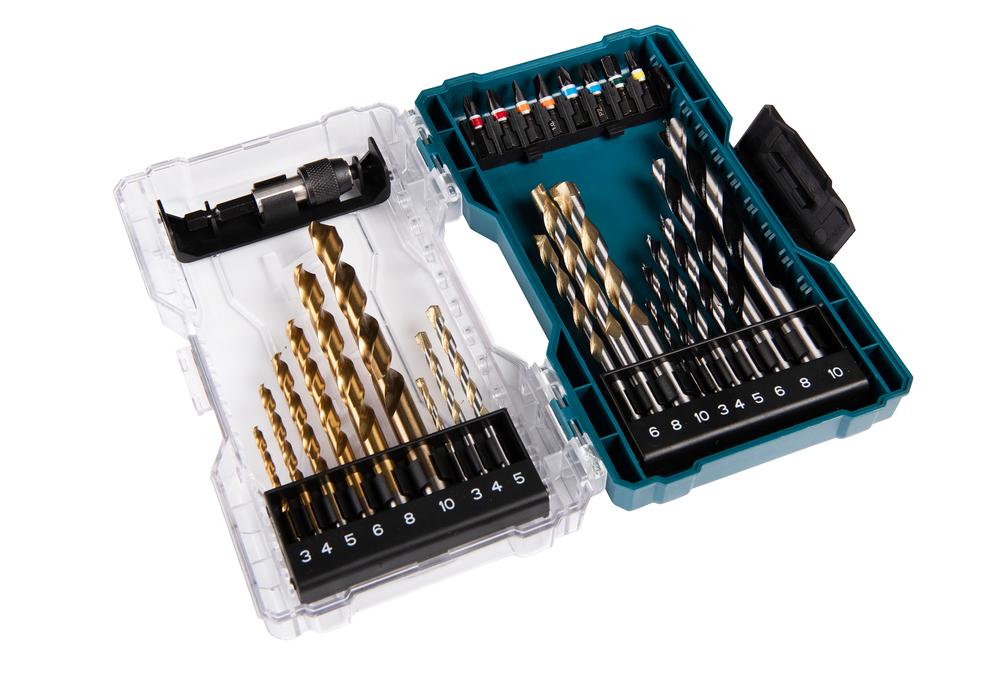 Makita E-07032 27 Piece Screwdriver Bit & Drill Set In A Clear Case