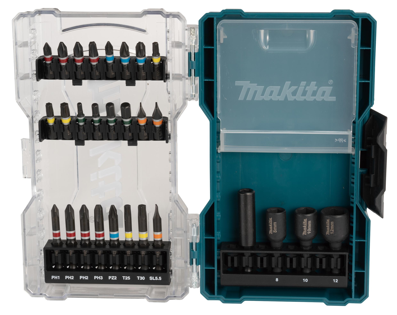 Makita E-07048 28 Piece Screwdriver Bit Set In A Clear Case