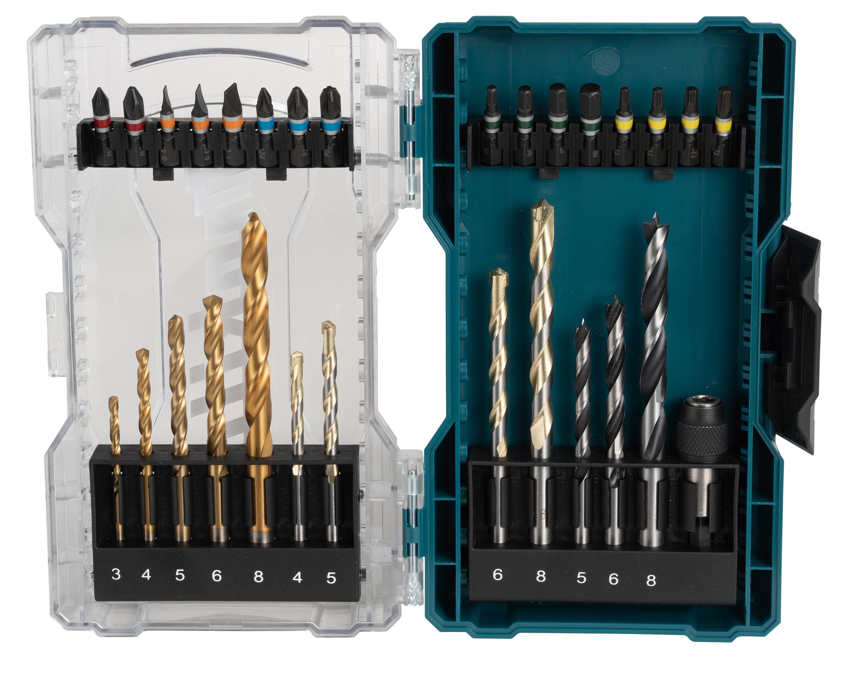 Makita E-07054 29 Piece Screwdriver Bit Set & Drill Bits In A Clear Case