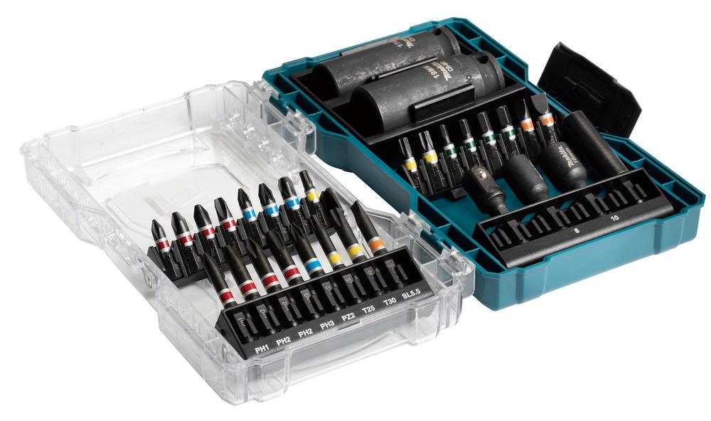 Makita E-07060 30 Piece Screwdriver Bit Set & Socket Set In A Clear Case