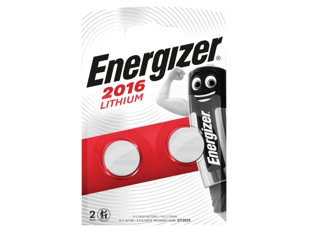 ENERGIZER CR2016 COIN LITHIUM BATTERY PACK OF 2 - S351