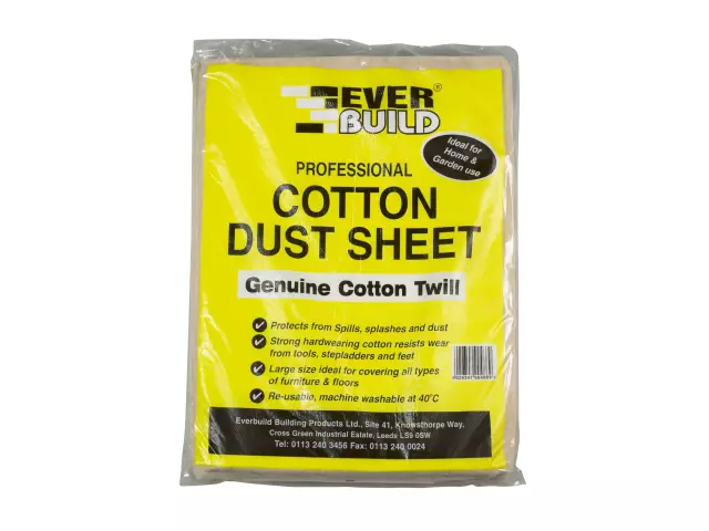 EVERBUILD COTTON DUST SHEET 3.6M X 2.7M
