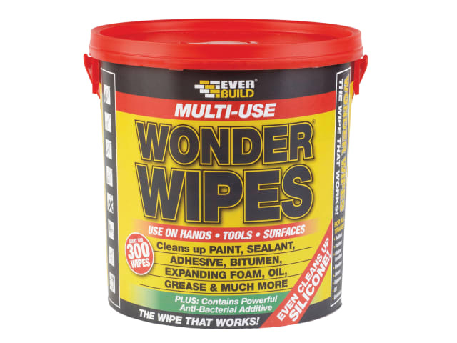 EVERBUILD GIANT WONDER WIPES (TUB 300) (HANDS - TOOLS- SURFACES)