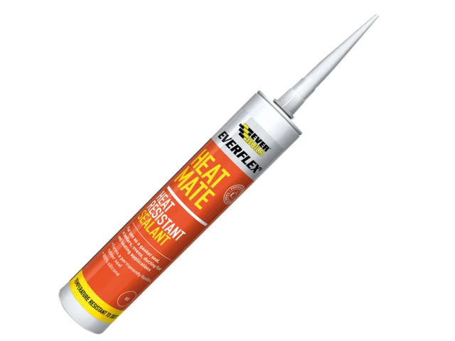EverBuild Heat Mate Sealant Ideal for Gaskets and Oven Doors 295ml - Red