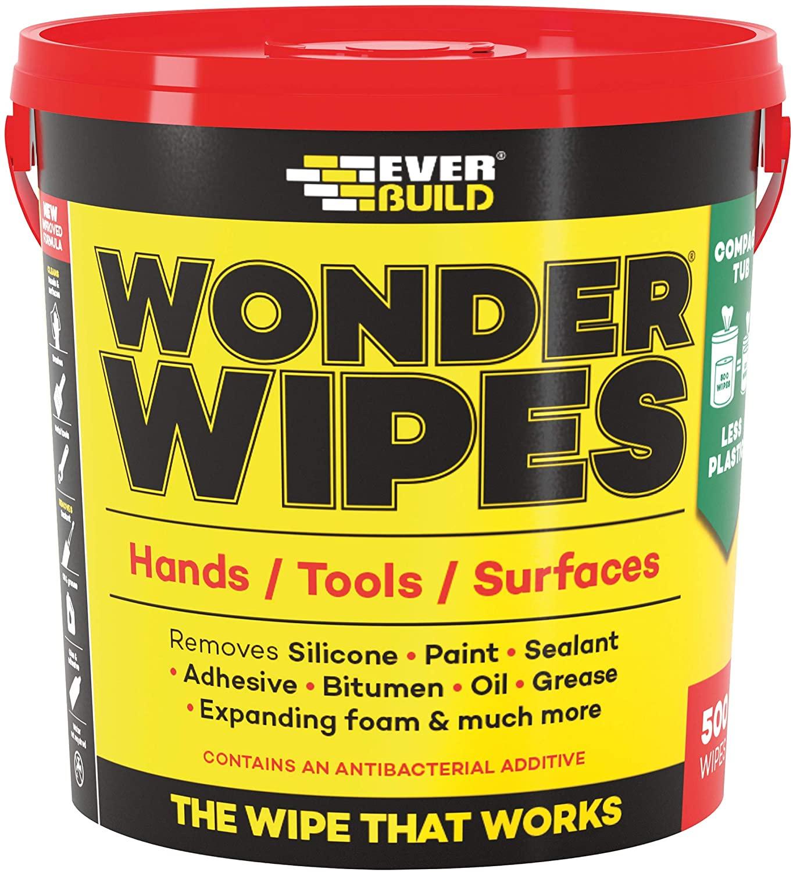 Everbuild Monster Wonder Wipes Tub 500