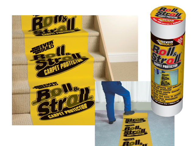 EVERBUILD ROLL & STROLL PREMIUM CARPET PROTECTOR 600MM X 25 METRE - ROLL20