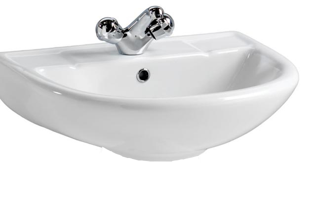 Ebony 530 Ceramic Basin One Tap Hole 530 x 450mm