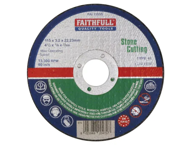 FAITHFULL STONE CUT OFF DISC 115 X 3.2 X 22.23MM
