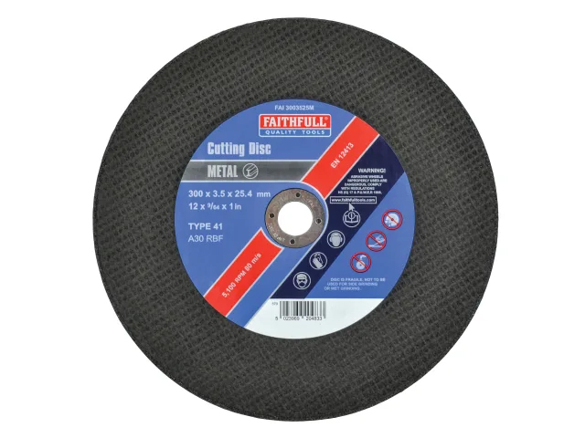 FAITHFULL METAL CUTTING DISC 300 X 3.5 X 25.4MM