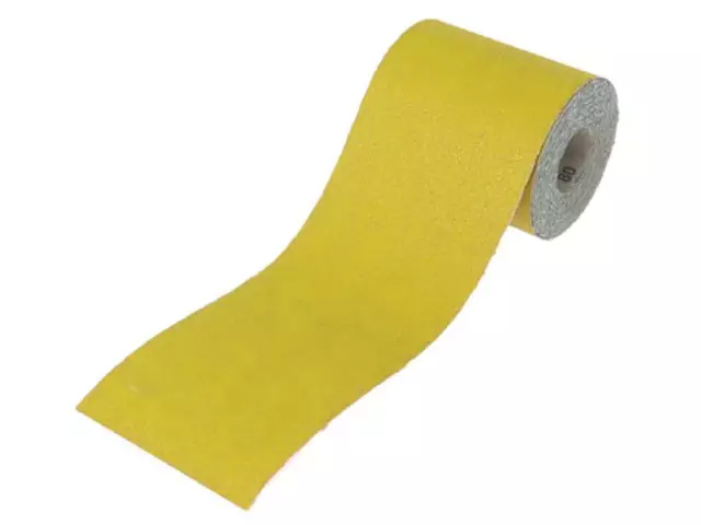 Faithfull Aluminium Oxide Sanding Paper Roll Yellow 115mm 80 Grit