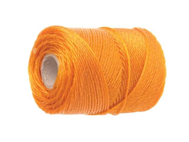 Faithfull Hi-Vis Nylon Brick Line 105m (344ft) - Orange