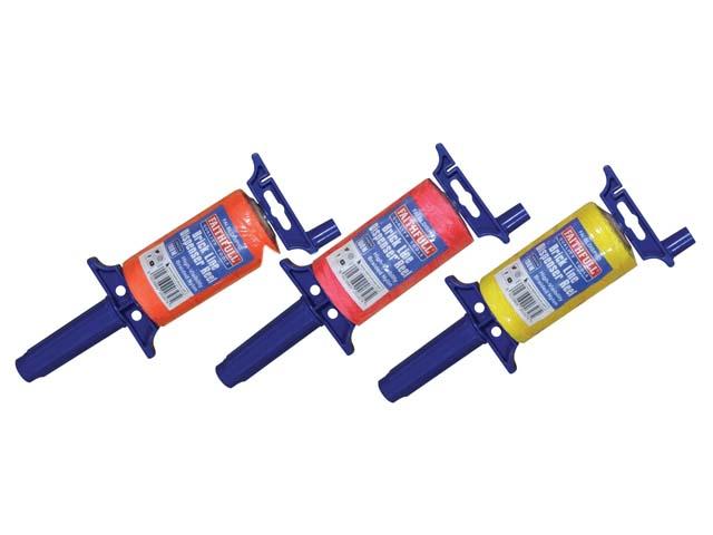 Faithfull 100m Easy Winding Brick Line Reels - Various Colours