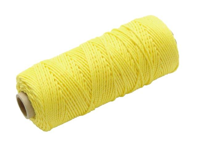 Faithfull Hi-Vis Nylon Brick Line 105m (344ft) - Yellow