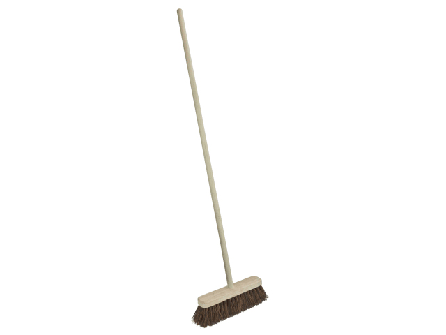 FAITHFULL BROOM BASSINE 30CM (12IN) HEAD WITH 48 IN HANDLE